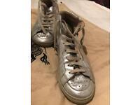 Burberry silver women's sneakers
