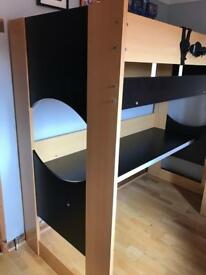 Single Bunkbed with large desk & steps