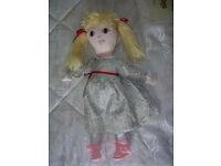 Handmade Dressed Rag Doll - Green