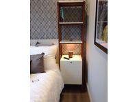 2 x Scandinavian solid wood bedside table - West Elm design - RRP £1200