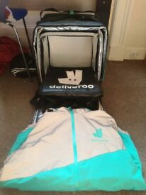 Deliveroo box, inner thermal box and deliveroo jacket (size large)