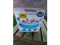 Bestway pool with cover and net
