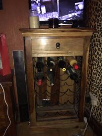indian wood wine rack and matching unit