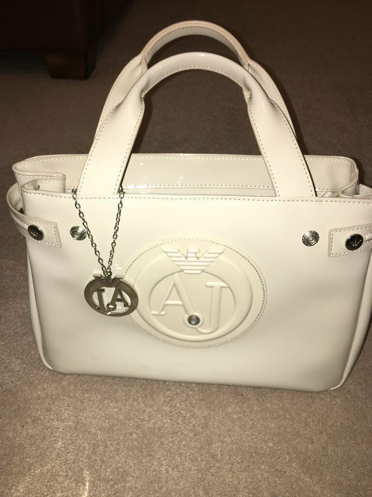 Armani Bag Patent - nude in colour Very good condition