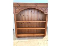 Antique Pine Decorative Shelving Unit