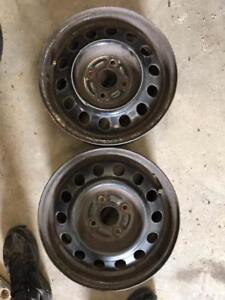"2 - Toyota Corolla 14"" 4 Bolt Steel Rims (4X100)"