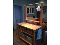 Wooden (Beech) Free Standing Kitchen Counter and storage