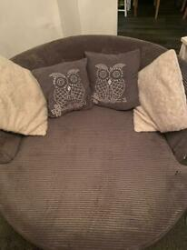 Cuddle Chair and 3 Seater Sofa DFS