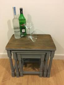 Priory Oak nest of tables - Anthracite Grey