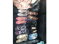 Size 3 and 1 size 4 shoe bundle 9 pairs