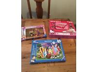 Girls jigsaw and game