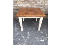 DINING TABLE SOLID OAK EXTENDING FARMHOUSE COUNTRY STYLE 90cm x 90cm x 76h cms or 160 cm extended