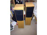 Rega Jura floor standing speakers good quality wooden surrounds, good sound,£60 .