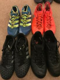Boys Adidas football sock boots £10 a pair, great condition UK 2 or 2.5