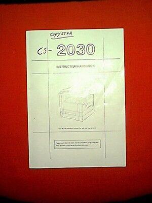 Kyocera Mita Km-2030 Copystar Cs-2030 Copier Instruction Owners Manual