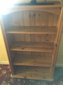 Solid pine book case/ shelving