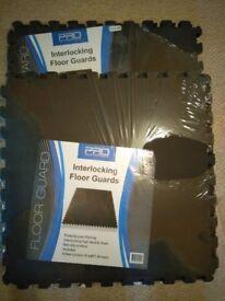 Interlocking floor guards non slip 2 packs (8 tiles) covers 32 sq feet