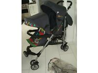 Cosatto duet lite tandem Double Twin umbrella fold buggy/stroller with rain cover
