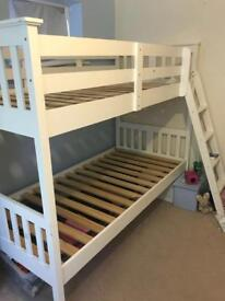 White bunk beds for sale - SOLD