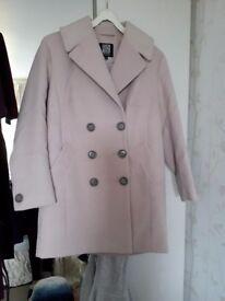 Pink wool Coat. Debenhams petite range. Size 12
