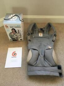 Ergo baby 360. 4 position baby carrier. Grey