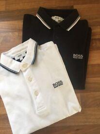 Boys Hugo boss polo shirts x2 Lacoste tshirt x1 aged 8
