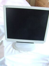 """ACER AL 1721 17"""" MONITOR SCREEN - WITH BUILT IN SPEAKERS"""