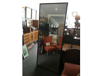Fantastic Large Heavy Full Length Dark Frame Floor Leaning Wall Mirror 6ft7 x 2ft7 (200cm x 80cm)