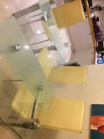 Lovely Glass Dining table