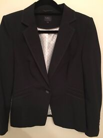 Ladies Marks & Spencers Charcoal Suit - unworn. Immaculate fitted jacket and skirt size 12.