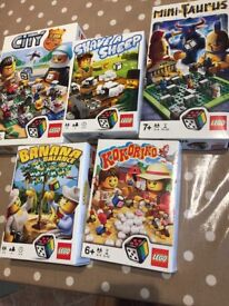 5 used Lego games