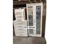 wardrobes chests bedsides brand new ready built