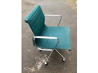 Eames Aluminium Group Chair By Vitra - Model EA117 - with castors.