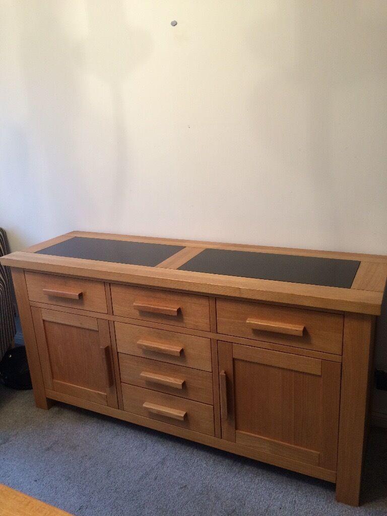 Malerisch Sideboard 180 Foto Von Solid Ashwood With Granite Inlay Rrp £600.