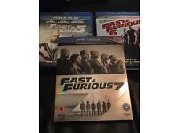 Blu Ray Bundle - Fast & Furious 5,6 & 7