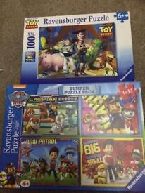 Toy story and paw patrol jigsaws in excellent condition
