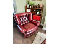 Chesterfield wing back rocking chair