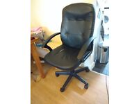 Large comfortable black office chair