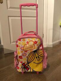 Little Miss Sunshine pull-along suitcase