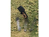 Good condition full golf club set with bag/stand
