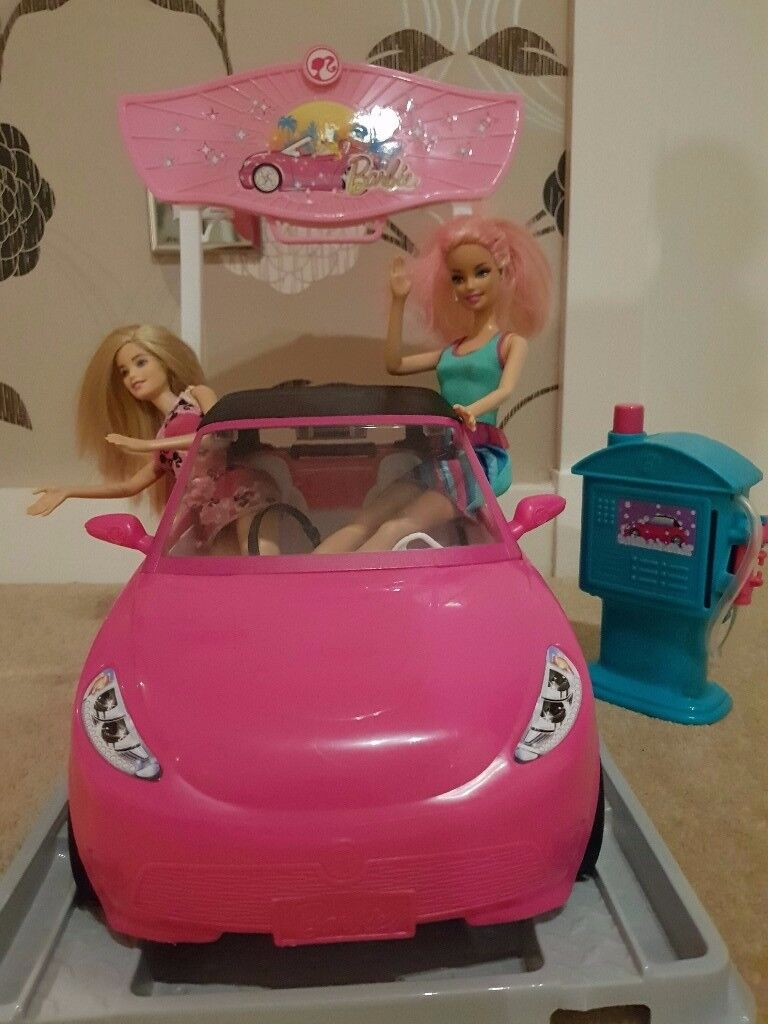 Barbie Car Wash with two Barbies