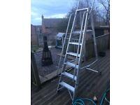 Heavy duty aluminium step ladders