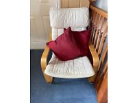 IKEA chair hardly used. Cream cushions only £15.00