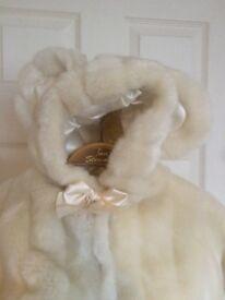 Baby girls fur coat