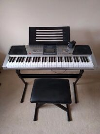 Electric RockJam Keyboard with Stand, Stool and Headphones