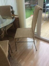 Wicker conservatory/Dinning Table