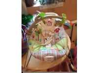 baby bouncer-Fisher-Price Woodsy Friends Comfy Time Bouncer £10