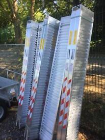 Trailer loading ramps aluminium ramps fits Ifor Williams trailer nugent trailer