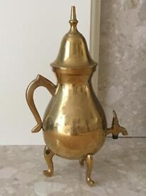 Brass Jug With Lid Fire Grate Ornament