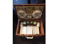 Picnic hamper. Vintage picnic hamper